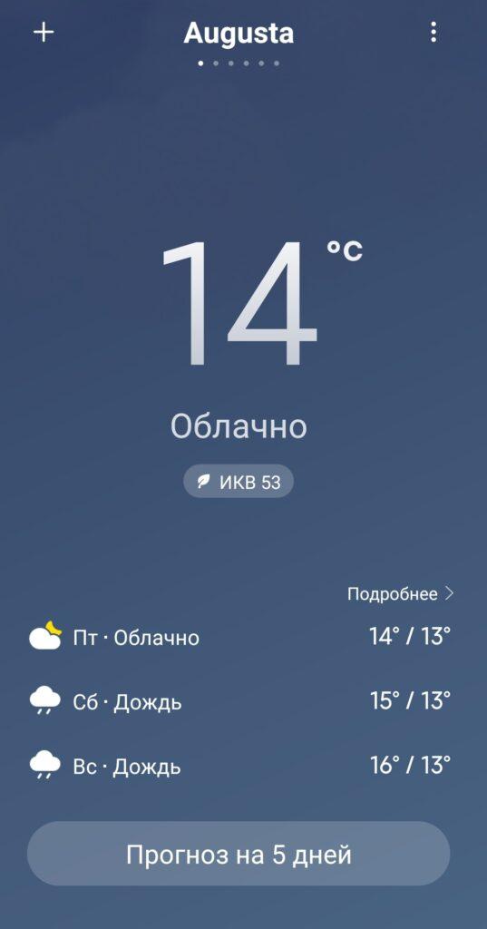 И на Сицилии бывает несолнечная погода;)