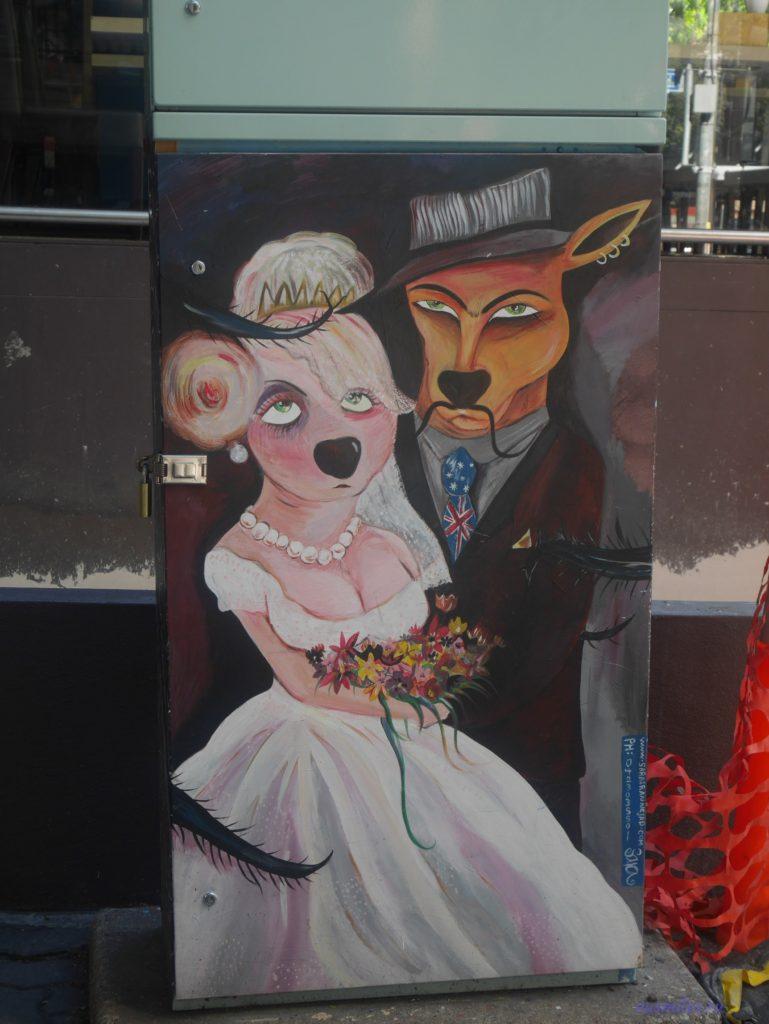 Уличное искусство в неожиданных местах